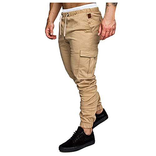 NEEKY Herren Jogginghose Sporthose Fitness Slim Fit Trainingshose Freizeithose Cargo Chino Jeans Hose Joggers Sweathose Streetwear