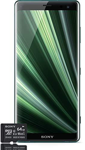 """Sony Xperia XZ3 Smartphone Bundle (display OLED da 15,2 cm/6"""", Dual-SIM, 64 GB di memoria interna, 4 GB RAM, Android 9.0) + gratis 64 GB di memoria [esclusiva su Amazon] - Versione tedesca"""