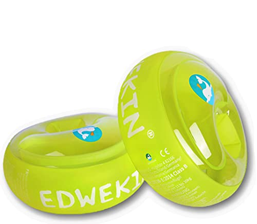 EDWEKIN® Schwimmflügel für Kinder mit extragroßen Luftkammern; Schwimmhilfe für Baby / Kleinkinder von 1 bis 6 Jahren; Perfekte Schwimmlernhilfe für Mädchen und Jungs, transparentes Design