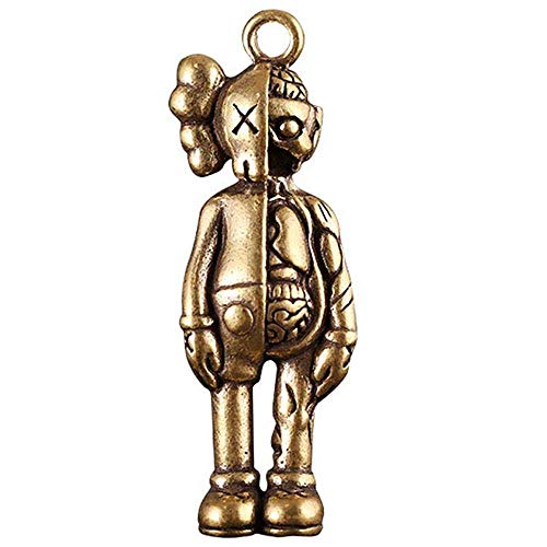 Action Figures Cute KAWS Cartoon Doll Key chain copper material Home Office Car Decorations Best Gift