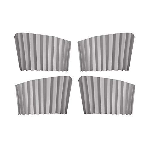 AMAZOM 4Pcs Seitenfenster Auto Sonnenschirme Auto Vorhänge UV Sunshade Drape Window Shield,Grau