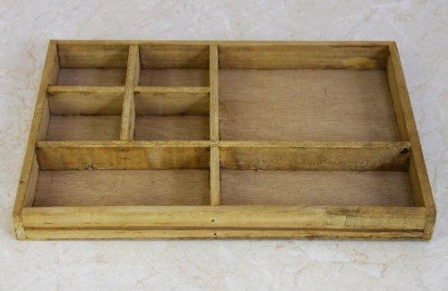 DanDiBo Sortierkasten Setzkasten 12292 aus Holz 32 cm Sammlervitrine Sortierschublade