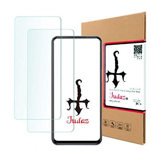 【 Judaz 】 3枚セット HD ガラスフィルム SHARP AQUOS R2 Compact SH-M09 / Softbank 803SH 対応 保護フィルム 最高硬度9H 日本製素材旭硝子製 ガラス 撥油性 指紋防止 超薄タイプ ラウンドカット