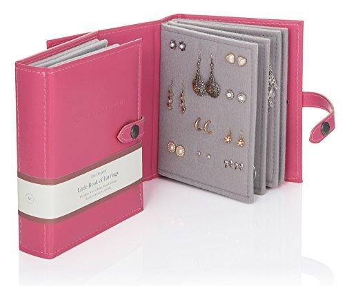 Das Kleine Buch der Ohrringe - Hält 48 Paar Ohrringe auf 4 Seiten - (Farbe Pink)