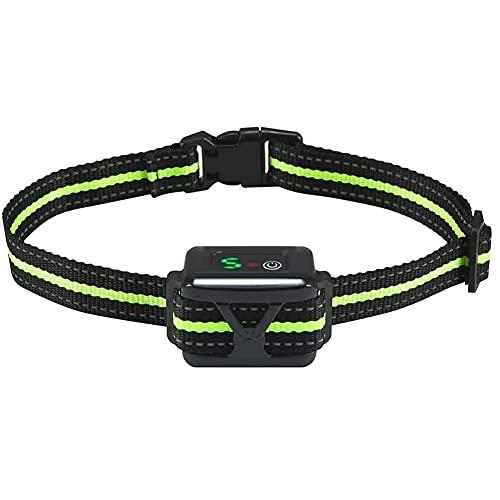 AFSDF Collar de Corteza de Collar de Corteza de Corteza de Corteza sin Choque con Dos Correas de Nylon Reflectante Cuello Anti-ladrido