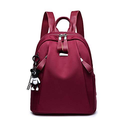 YanLong Beiläufige Frauen-Rucksäcke imprägniern Oxford-Rucksack für Mädchen-einfache Art-Schultaschen-Jugend-Damen Bagpack Rot