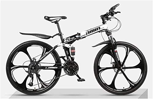 Bicicleta de montaña plegable, 26 pulgadas, bicicleta de montaña, 24 Engranajes velocidad, doble suspensión, bicicletas for niños, mujeres de los hombres de la ciudad de cercanías bicicletas, ideal fo