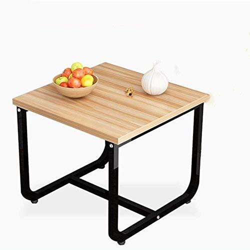 LILICEN LYJ Tavolino for Salotto Moderno Comodino Laterale Fine Accent caffè Tavolo for Mangiare Scrivere Lavorare Mobile Home Office Decorativo Tavolino (Colore: Beige + Nero)