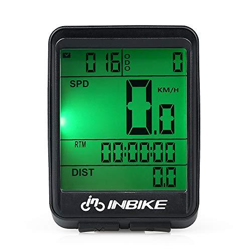 Explopur Velocímetro de Bicicleta Inalámbrico - Impermeable Bicicleta de computadora Pantalla LCD...