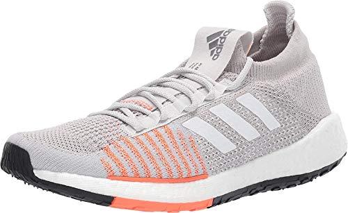 Adidas - PulseBOOST HD para correr, (gris, blanco, rojo (Grey/White/Solar Red)), 37.5 EU