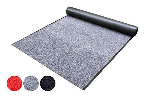 Schmutzfang-Läufer Meterware Schmutzfangmatte WASH and CLEAN – Anthrazit 90 x 200 cm - Waschbar, Rutschfest, Wasserabsorbierend - Fußmatte für Innen und Außen, Küchenläufer, Sauberlauf-Matte