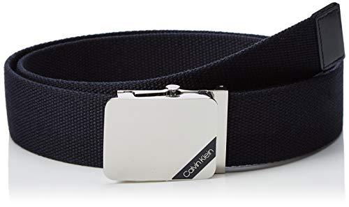 Calvin Klein 4cm Adj. Webbing Plaque Belt Cintura, Blu (Navy 067), 7 (Taglia Produttore: 95) Uomo