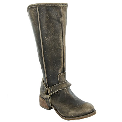 CORRAL P5100 Distressed Brown Tall Harness Boots with Zip Back (6)