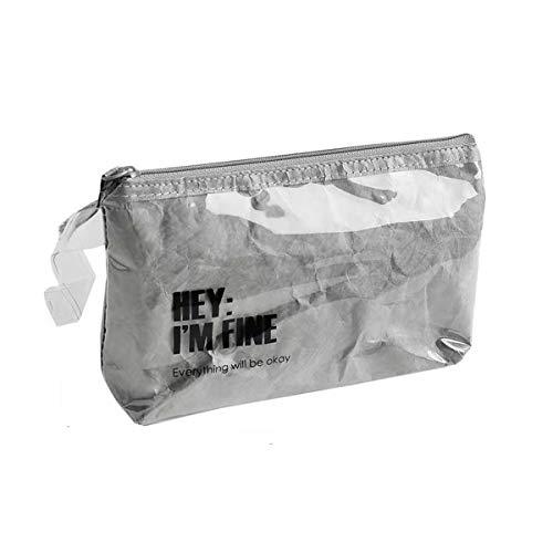 SAKUSHO化粧ポーチ シンプル ペンケース 韓国 ジップイット化粧ポーチ PVCバッグ 化粧品収納ボックス ウォッシュバッグ ins映え 大容量 軽量 携帯便利 出張 旅行 合宿 おしゃれ 多機能 収納ボックス シンプル 防水立体 塩の女の子 爽やか