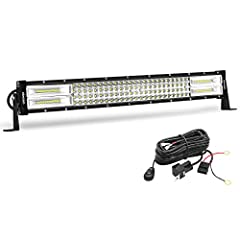 SUPER BRIGHT SPOT BEAM: OEDRO Quad-Row 22in LED light bars featuring the durable diecast aluminum body with jaw-dropping dual-row pure white light, is an ideal choice for different off-road use. Spot flood combo beam - bright flood beam for wider ill...