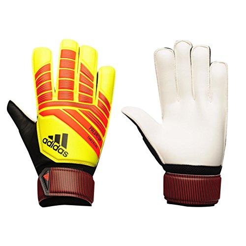 Luva de Goleiro Futebol Adidas Predator Training Amarelo e Vermelho CW5601 (Adulto 9, Treino)