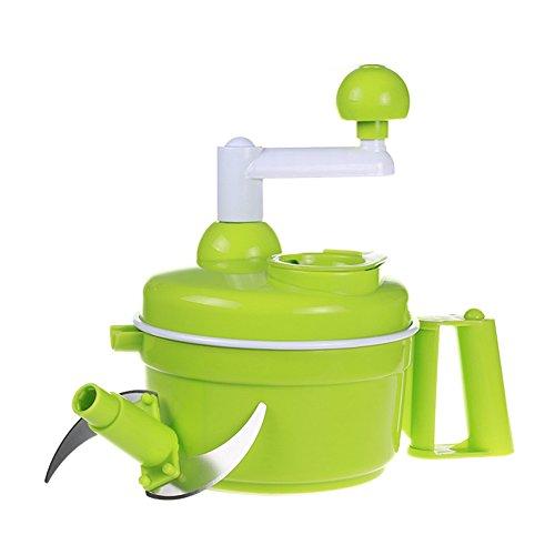 Food Chopper,Manual Food Processor,Stainless Steel Blade,Veggies Onion Garlic Cutter,Mixer,Blender