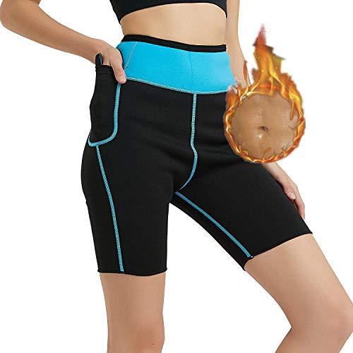 HuntDream Pantalones Cortos de Sauna de Neopreno para Bajar de Peso para...
