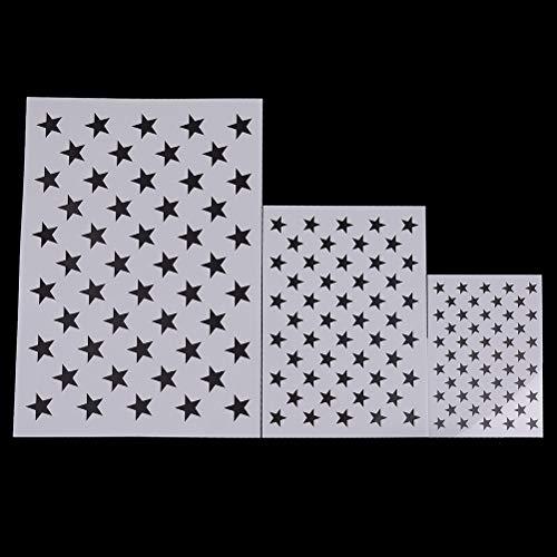 7thLake Airbrush-Malschablonen mit amerikanischer Flagge, 50 Sterne, Schablone für Das Malen, Inkjettieren und DIY Machen, amerikanische Flaggen, 36,8226,5 cm, 107