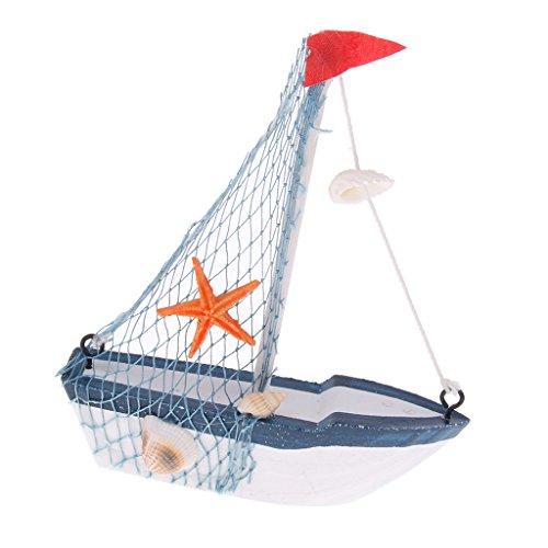 perfeclan Barco de Vela de Madera Náutica, Modelo de Exhibición de Escritorio para El Hogar - # 3, Individual