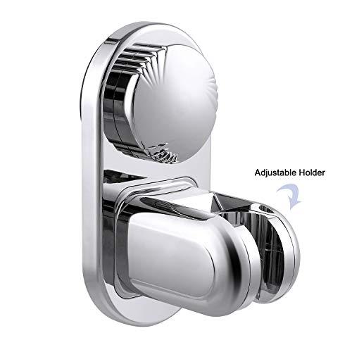 LEF Brausehalter, Vakuum Saugnapf Handbrause Halterung - Verstellbar Duschkopf Halter Ohne Bohren mit 5 Modus Winkel - Wandmontage