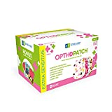 Opthopatch Kids Eye Patches - Fun Girls Design - 90 + 10 Bonus Latex Free Hypoallergenic Cotton Adhesive Bandages for Amblyopia and Cross Eye - 3 Reward Chart Posters by Defined Vision