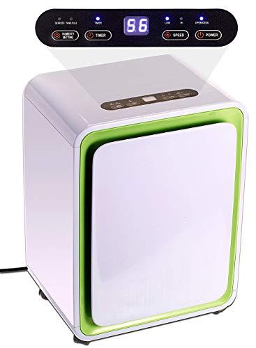 Sichler Haushaltsgeräte Elektro-Entfeuchter: Digitaler Luftentfeuchter mit Timer für Räume bis 30 m², 12 Liter/Tag (Elektronische Luftentfeuchter)