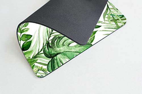 Smooffly Wild Leaf Mouse pad, Leaves Mouse pad, Office Supplies, Gift for Friend, Desk Accessories Photo #3