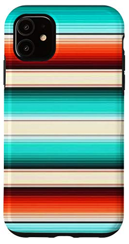 iPhone 11 West Western Country Boho Southwestern Stripes Sunset Desert Case