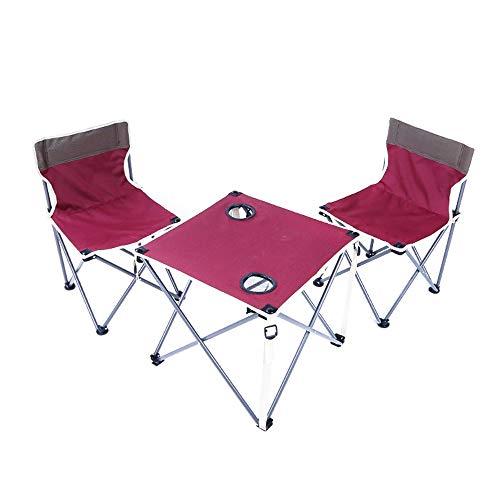 Klaptafel verstelbaar en stoelen draagbare auto schrijftafel set outdoor vrije tijd tafels en stoelen 2 kleuren optioneel kunnen worden gedraaid (kleur: B) A