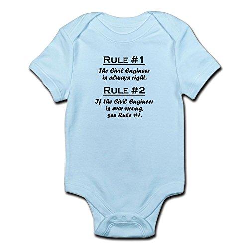 CafePress Civil Engineer Infant Bodysuit Cute Infant Bodysuit Baby Romper Sky Blue