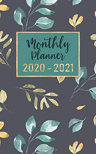 monthly planner 2020-2021: 2 year calendar pocket planner ( 5 x 8