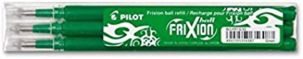 Pilot FriXion Rollerball 0.7mm Refill Green (Pack of 3)