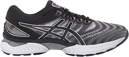 Zapatillas de correr ASICS Gel-Nimbus 22, para hombre, 6,5 XW, 4E, blanco, negro