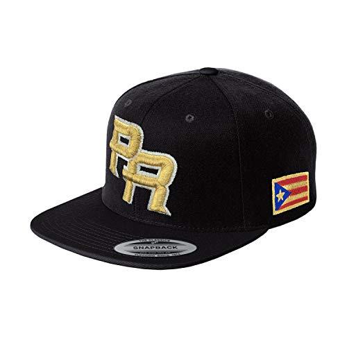 Peligro Sports Puerto Rico Snapback Hats Vintage Hats (Snapback Black/Gold)