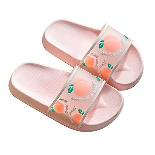 Zapatos De Agua para Niños Y Niñas, Sandalias Tipo Chanclas para Niños Zapatillas para Niños, Zapatillas De Playa De Frutas Lindas, Zapatos De Verano Al Aire Libre Chanclas De Piscina