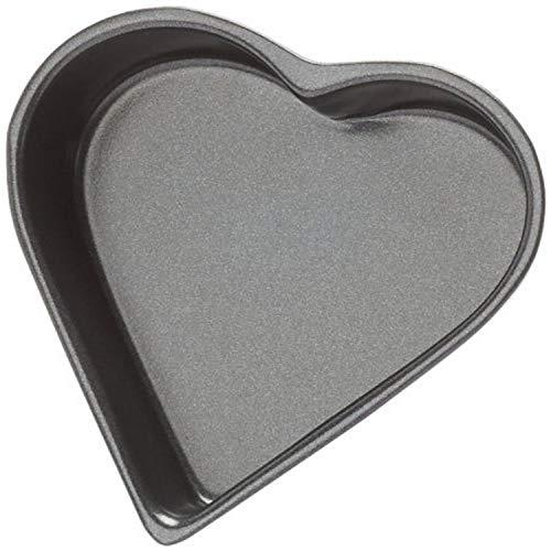patisse 2844 Moule Forme de Coeur Antiadhésif Acier Revêtu Noir 11 x 3,5 cm