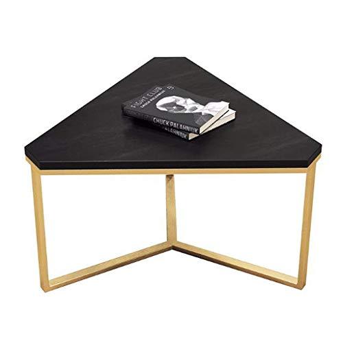 N/Z Wohngeräte Holz Kaffee Beistelltische Moderne Eiche Unregelmäßige Wohnzimmer Beistelltische Sofa Kleine Beistelltische für Büromöbel (Farbe: Schwarz)