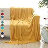 ALPHA HOME Throw Blanket for Couch 50x60 Warm Acrylic Knit Durable...