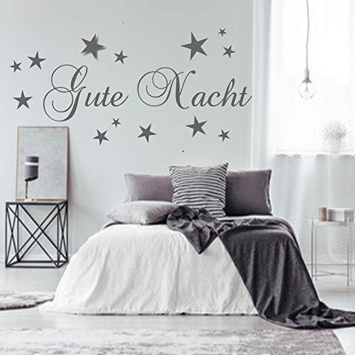 Unbekannt Wandschnörkel® WandTattoo Gute Nacht inklusive 13 Sterne Wand Aufkleber Schlafzimmer Kinderzimmer