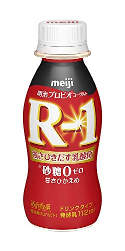 (クール便)明治 ヨーグルト R-1 ドリンクタイプ 砂糖0 甘さ控えめ 112ml×36本