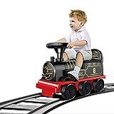 glzcyoo Tren de Juguete - Tren eléctrico de Juguete for los Muchachos Luces y Sonido Ride-en Tren con Pistas + Tren de carros, los Regalos for 2 3 4 5 6 7 8 + años los niños, Regalo for los niños