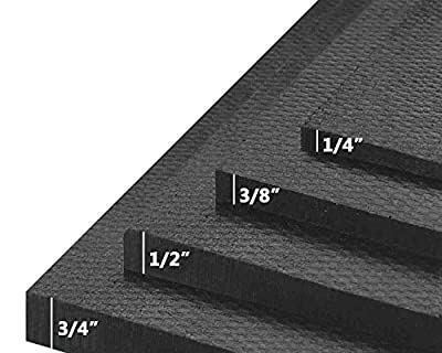 """American Floor Mats Ultimate Stand-Alone Gym Mats 10% Black 3' x 4' - 1/4"""" Thick"""