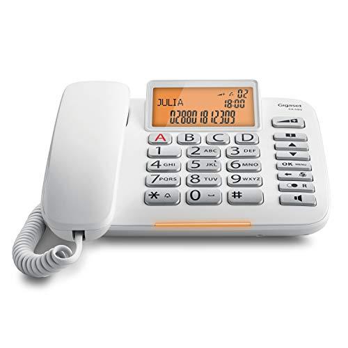 Gigaset DL580 estándar botón grande manos libres teléfono con cable - blanco