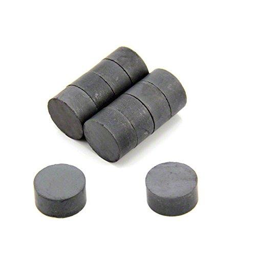 First4magnets F646F-10 20 x 10 mm dicken Y30BH Ferrit-Magnet - 1,4 kg ziehen (Packung mit 10), silver, 25 x 10 x 3 cm