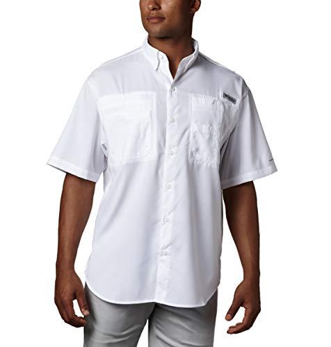 Columbia Men's Tamiami II Short Sleeve Shirt, White, 2X Tall