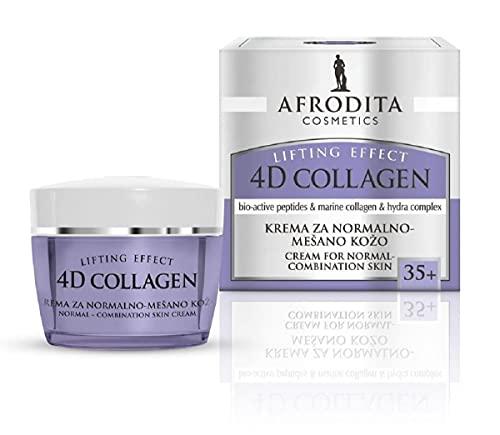 Crema Hidratante Facial, Crema Antiarrugas Mujer de AFRODITA con Extracto de Péptidos Bioactivos, Colágeno Marino, Mejor Crema Antiarrugas, 50 mililitros.