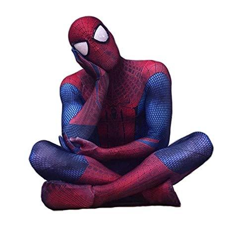 TOYSSKYR Amazing Spiderman Traje de niño o Adulto for niños de superhéroes Cosplay elásticos Medias Jumpsuit Fantasía Tema del Partido del Vestido Alta Elasticidad