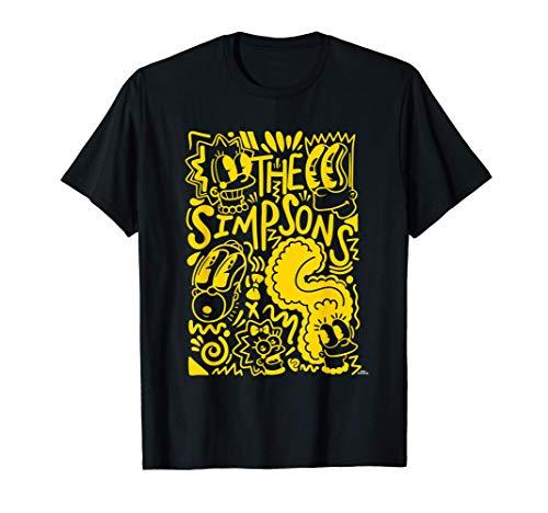 The Simpsons Homer Marge Lisa Bart Maggie Doodle Camiseta