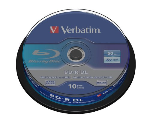 Verbatim BD-R Single Layer 6 -fache Brenngeschwindigkeit - Printable Surface Scratchguard Plus - 10 Stück